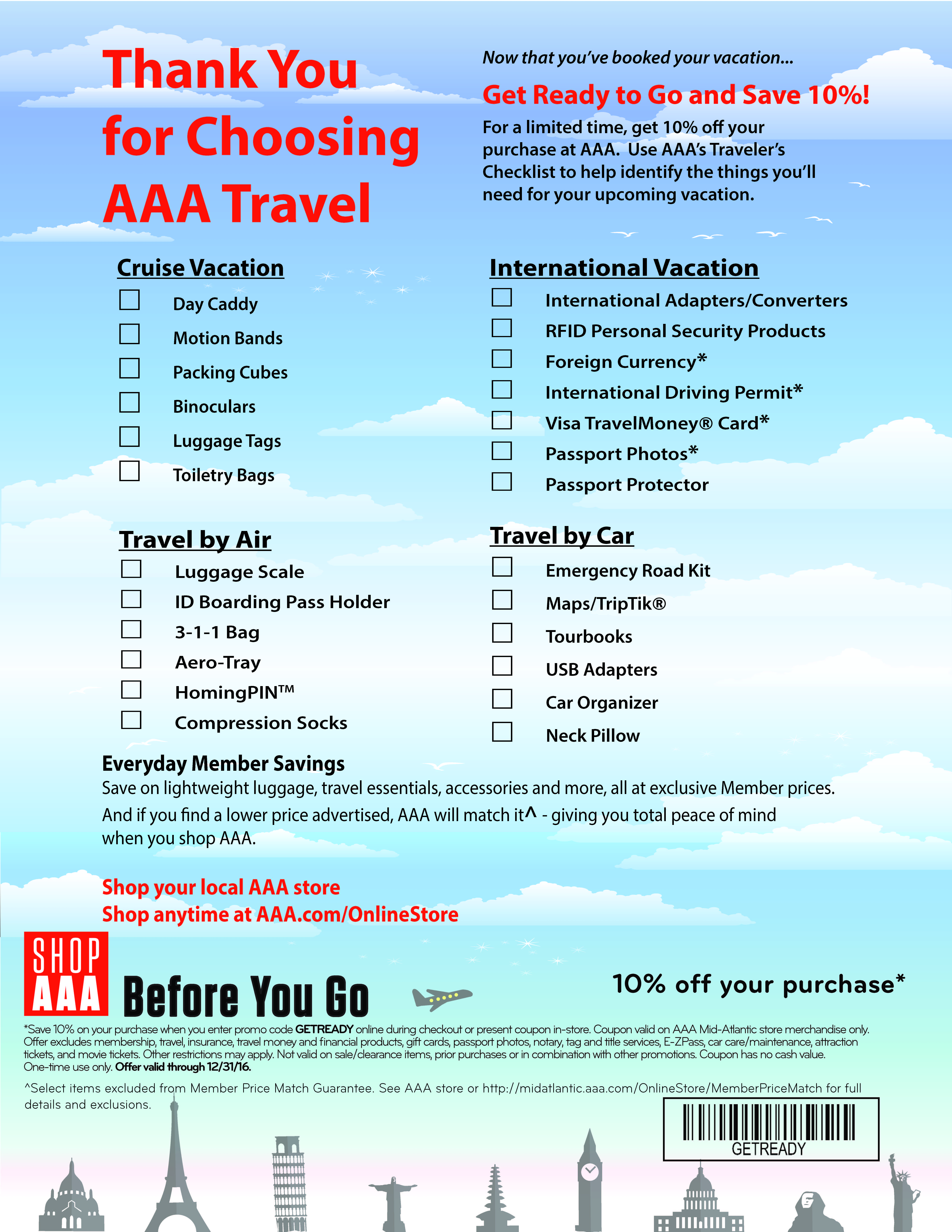 Aaa travel discount coupons available